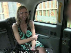 Hot Destinys tits gets paid in the taxi